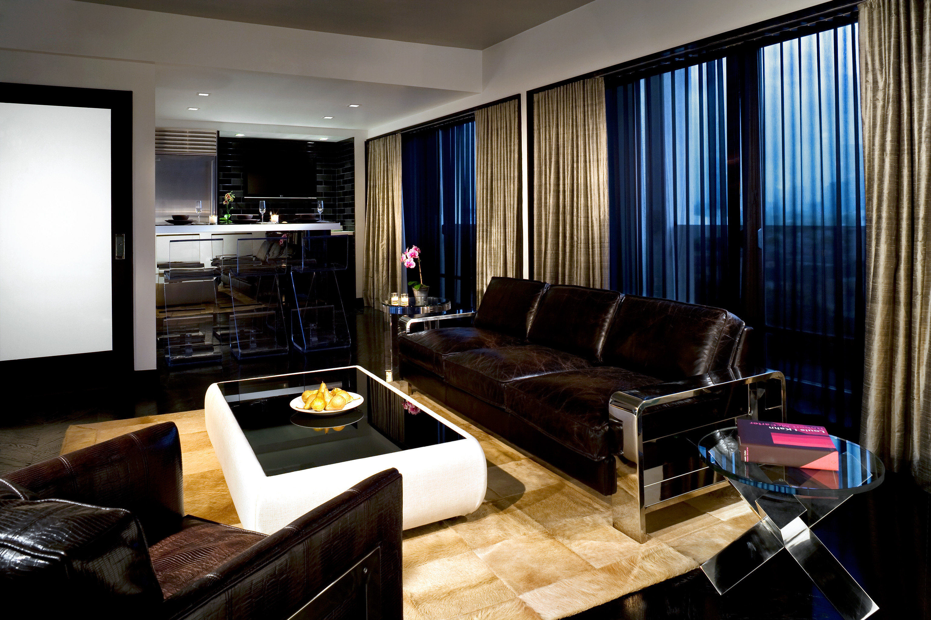 Hip Modern Nightlife Party property living room condominium Suite home flat leather
