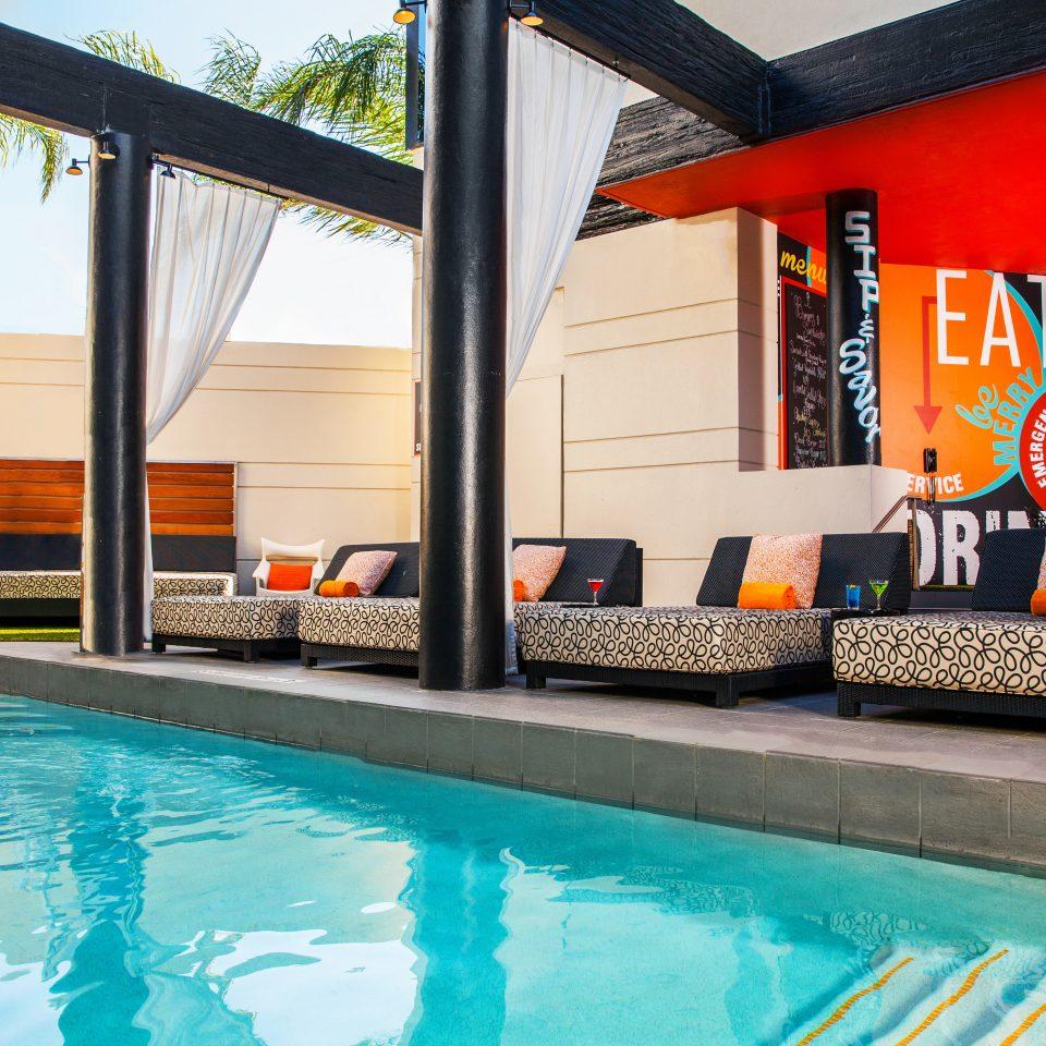 Hip Modern Pool water leisure swimming pool property Resort swimming home Villa blue
