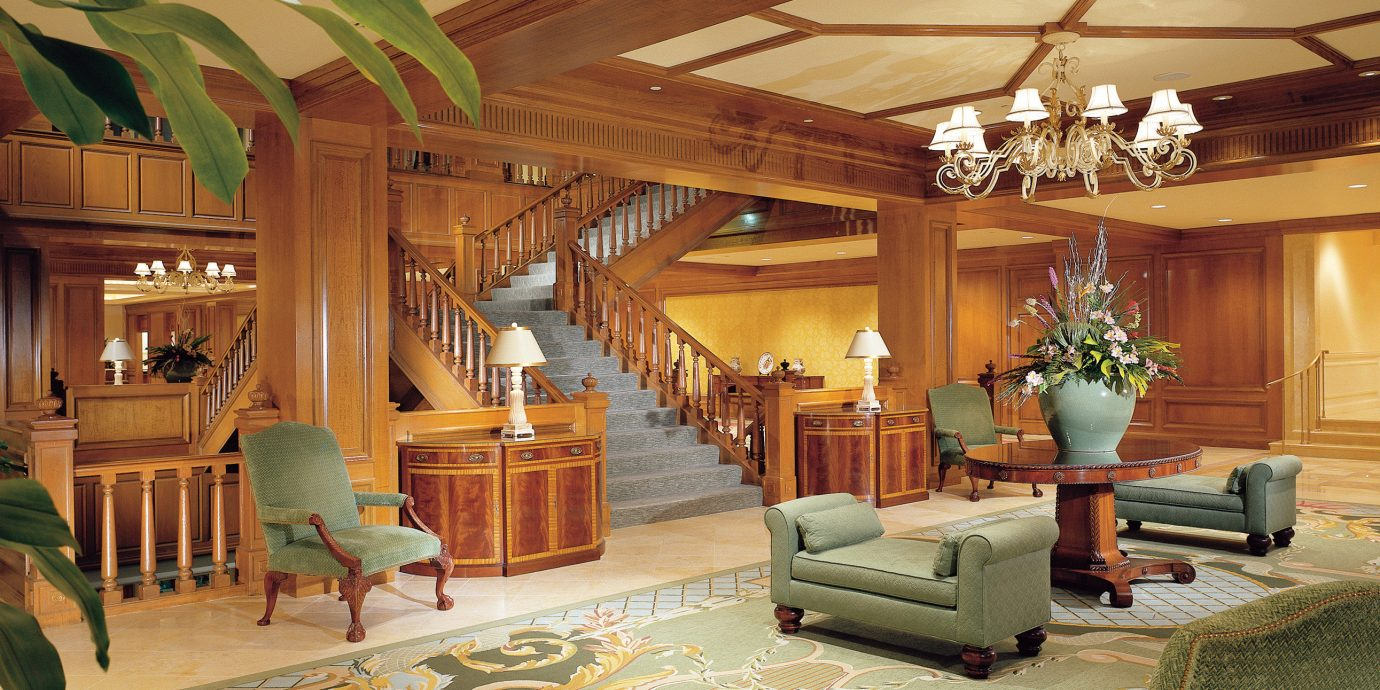 Historic Lobby Lounge Rustic property living room house home mansion recreation room Resort Villa log cabin