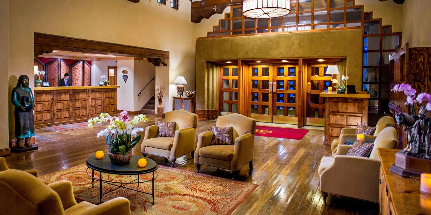 Historic Lobby Lounge Rustic building home living room Resort recreation room