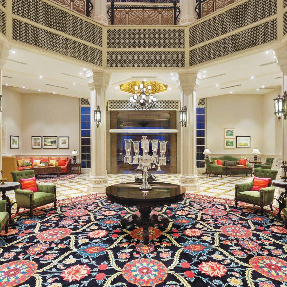 Historic Lobby Luxury property building living room home recreation room flooring mansion rug
