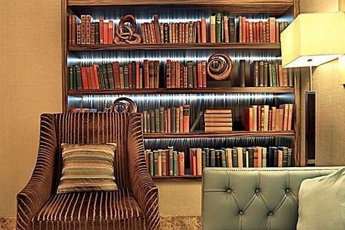 living room library home leather