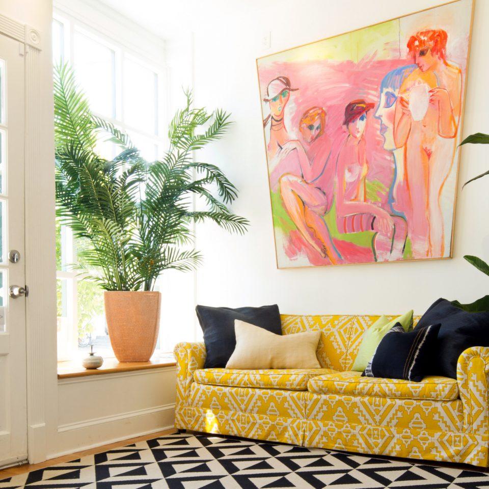 living room modern art home mural