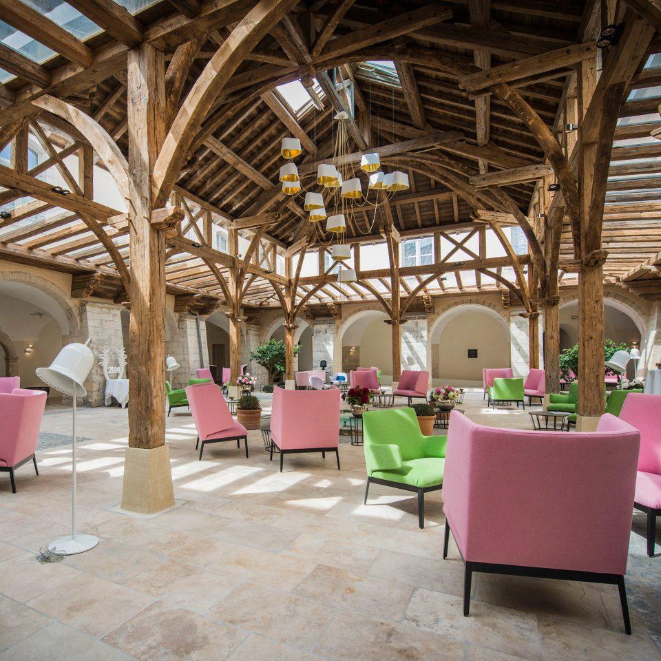 Honeymoon Lounge Luxury Modern Romance Wellness chair Resort restaurant pink Lobby hacienda