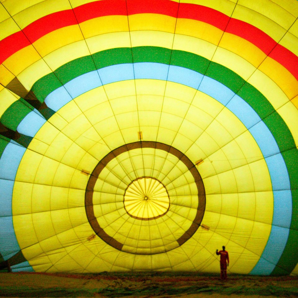 transport aircraft balloon Hot Air Balloon hot air ballooning color vehicle yellow atmosphere of earth toy executive car circle symmetry painted colorful colored