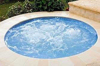 Hot tub/Jacuzzi Lounge Modern ground swimming pool jacuzzi Hot tub Pool vessel blue bathtub water basin porcelain