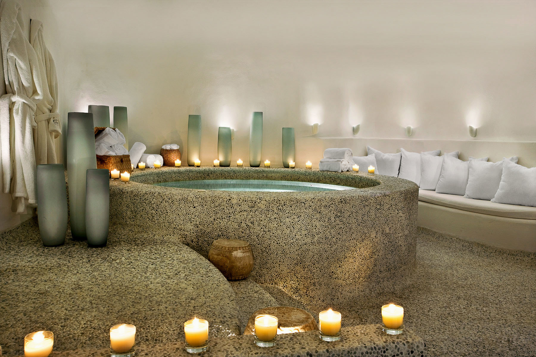 Hot tub/Jacuzzi Lounge Romantic Spa lighting Lobby counter living room function hall ballroom