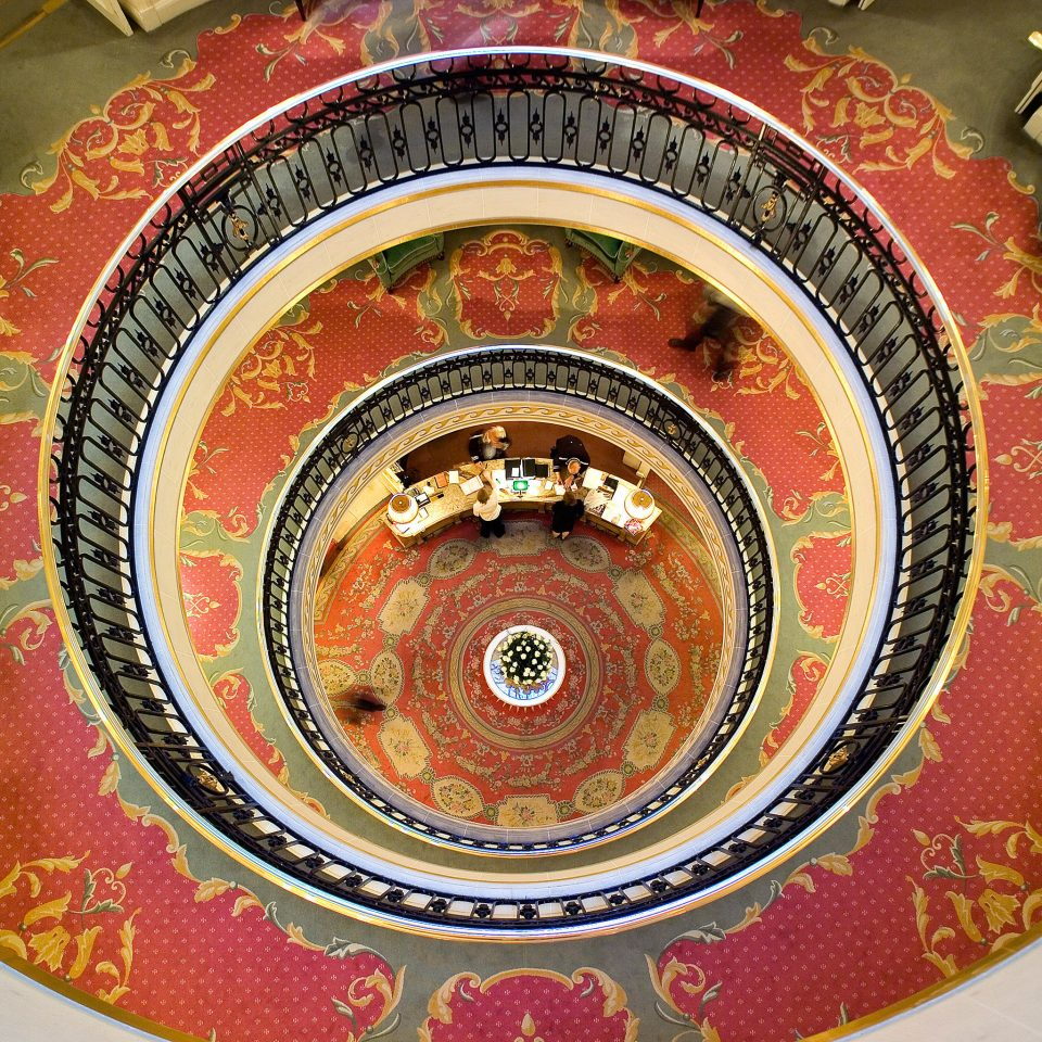 Hotels color red food carving art circle shape pattern cuisine