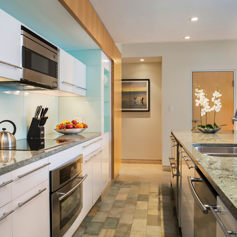 Hotels Kitchen Modern property home counter condominium appliance Suite cottage stainless steel Island