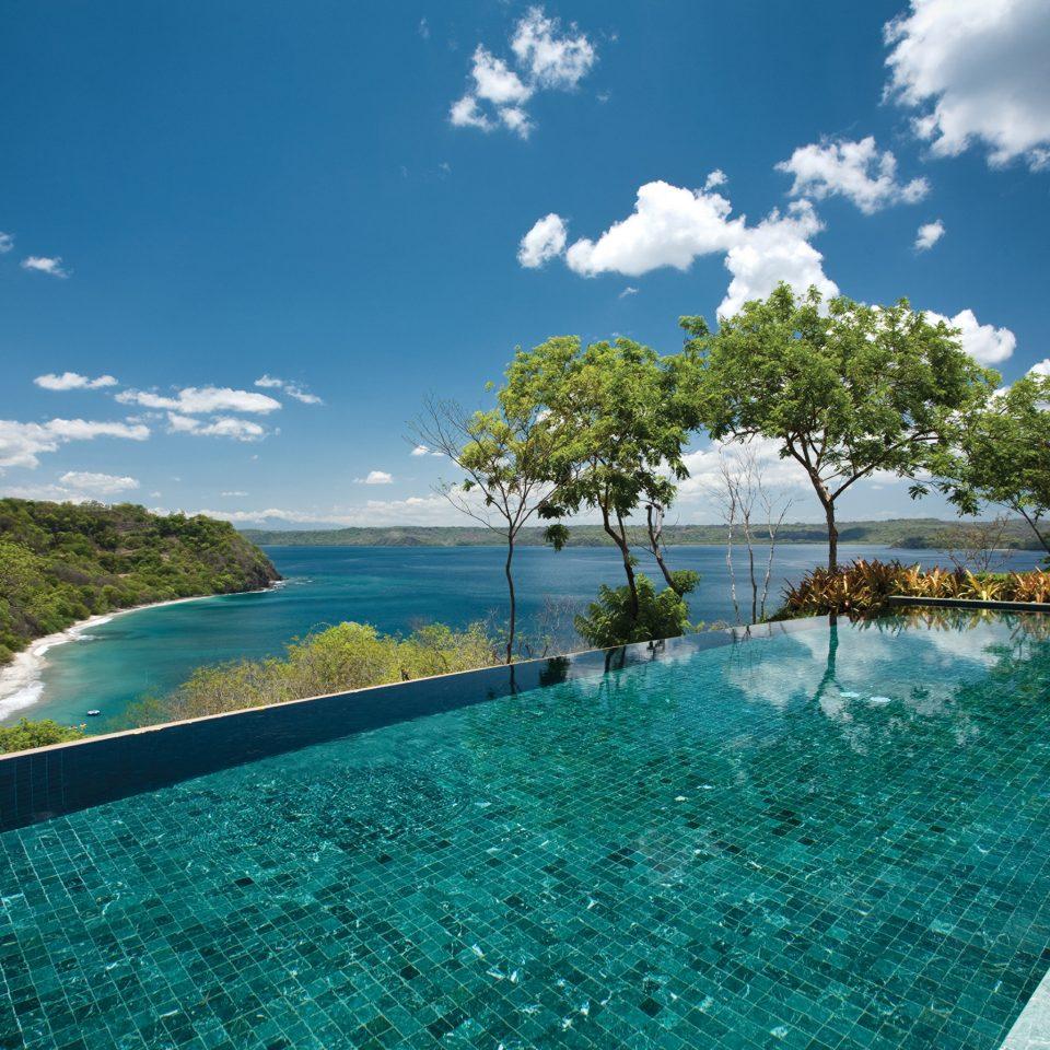Hotels Lounge Luxury Modern Pool Scenic views Trip Ideas sky swimming pool Sea Ocean caribbean Lagoon Resort day