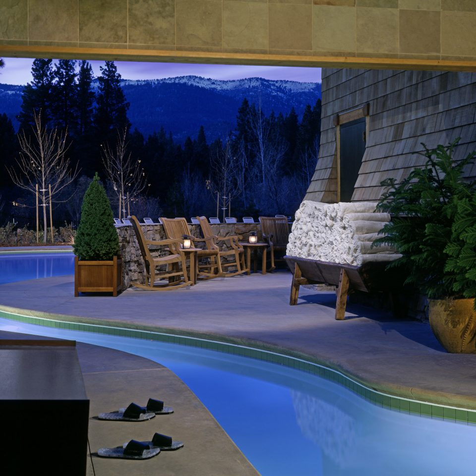 Hotels Lakes + Rivers Outdoors Patio Pool Romance Terrace swimming pool house home backyard Resort