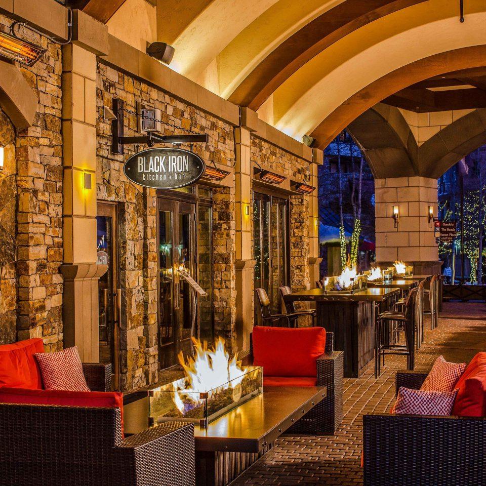 Hotels Travel Deals restaurant red lighting Lobby tavern evening night
