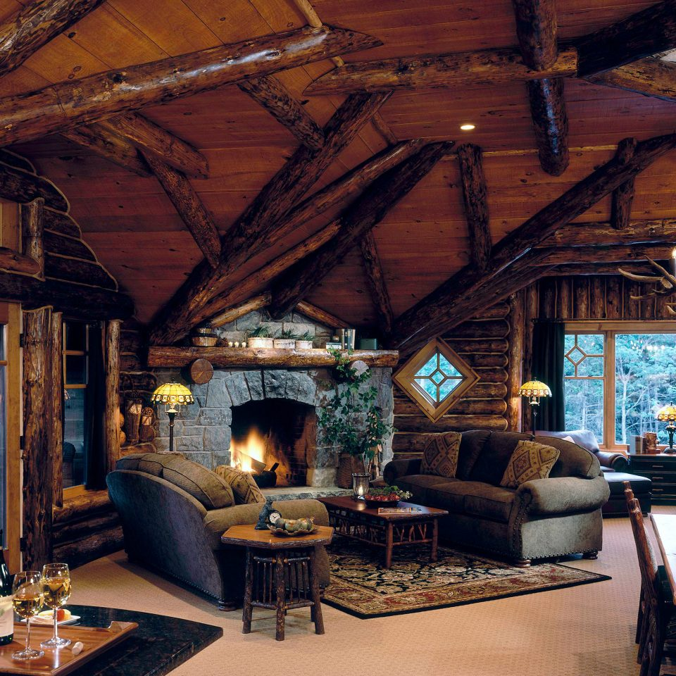 Hotels Lodge Lounge Luxury New York Romantic Romantic Hotels Rustic property building house living room home log cabin cottage outdoor structure