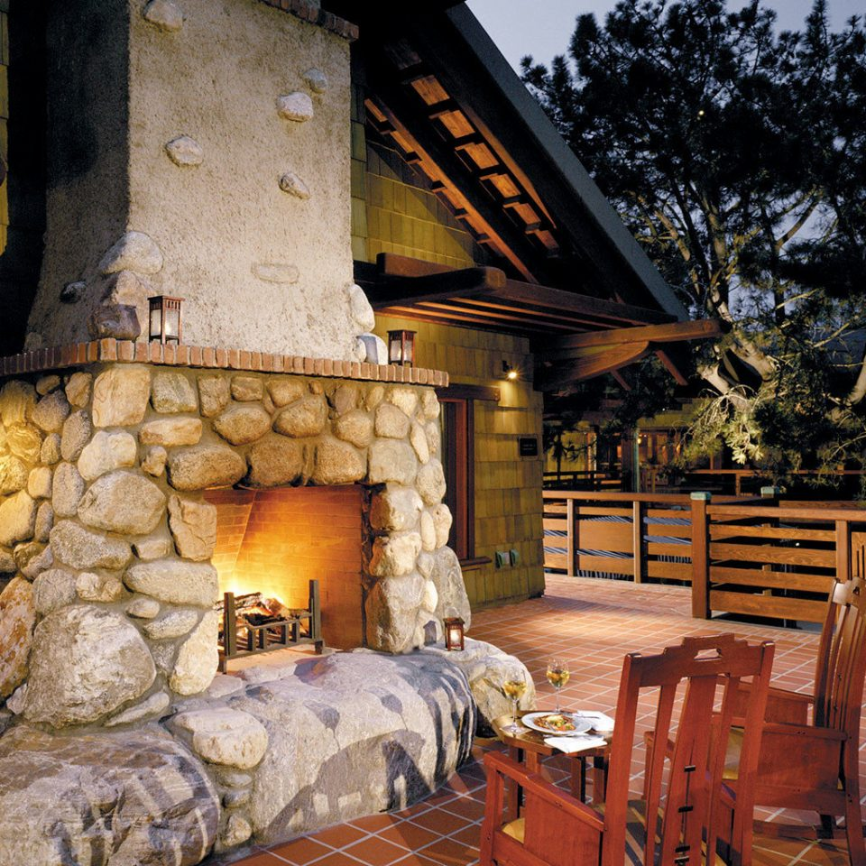 Hotels Lounge Luxury Rustic house log cabin home cottage backyard stone