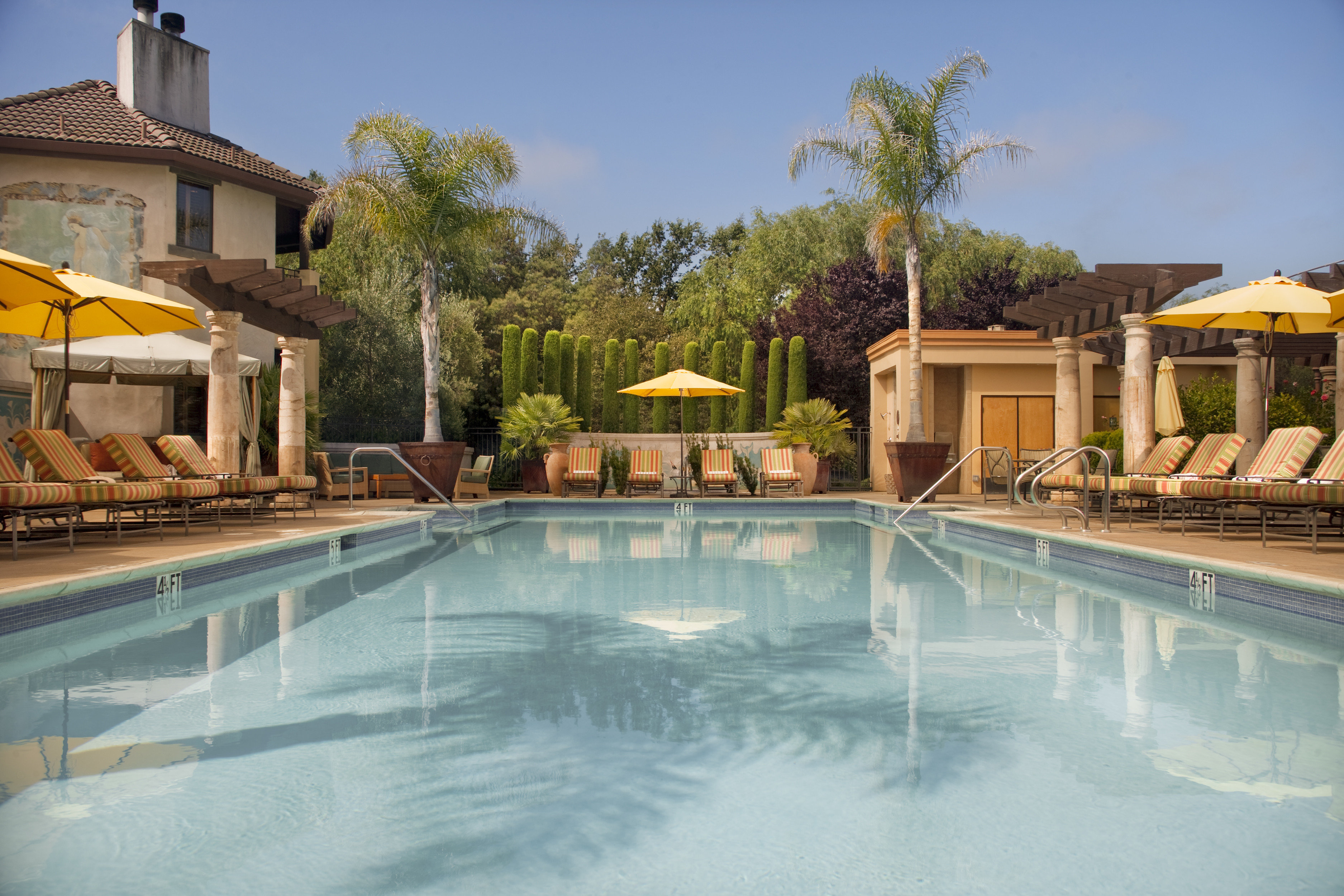 Hotels Lounge Modern Pool Romance Spa Retreats Trip Ideas tree swimming pool property Villa Resort backyard reflecting pool home mansion hacienda house