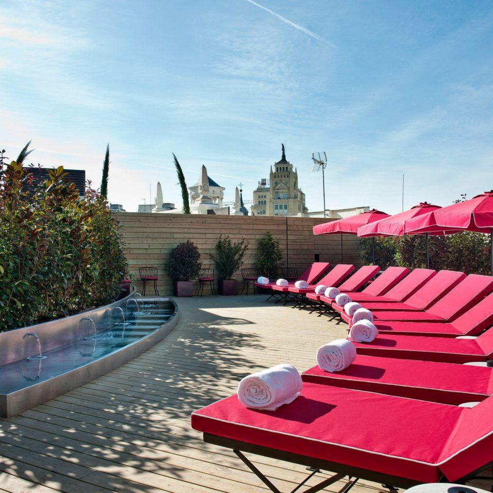 Hotels Madrid Spain sky ground leisure red swimming pool Resort walkway