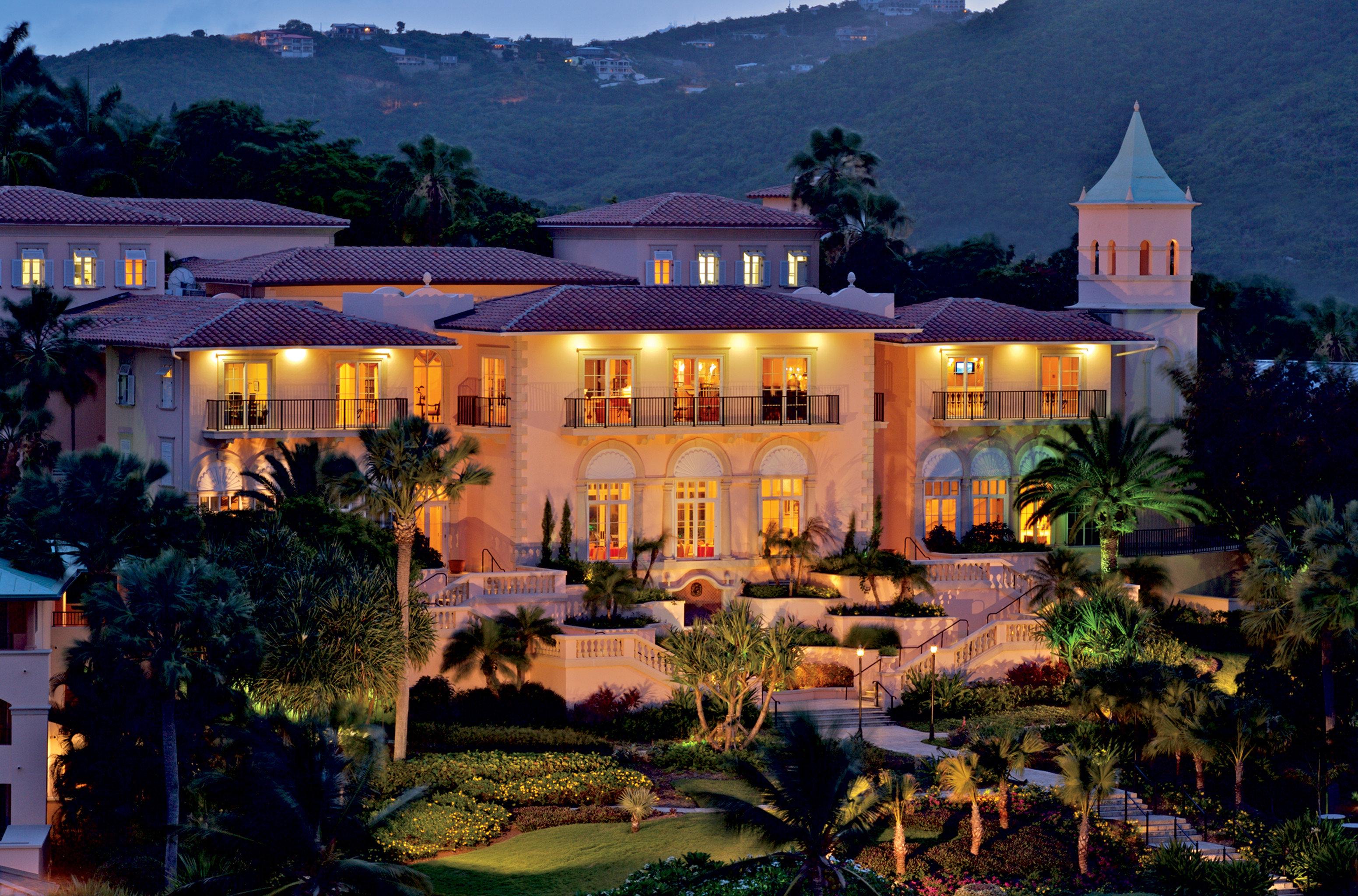 Hotels Romance building grass Resort house mansion home palace landscape lighting lush