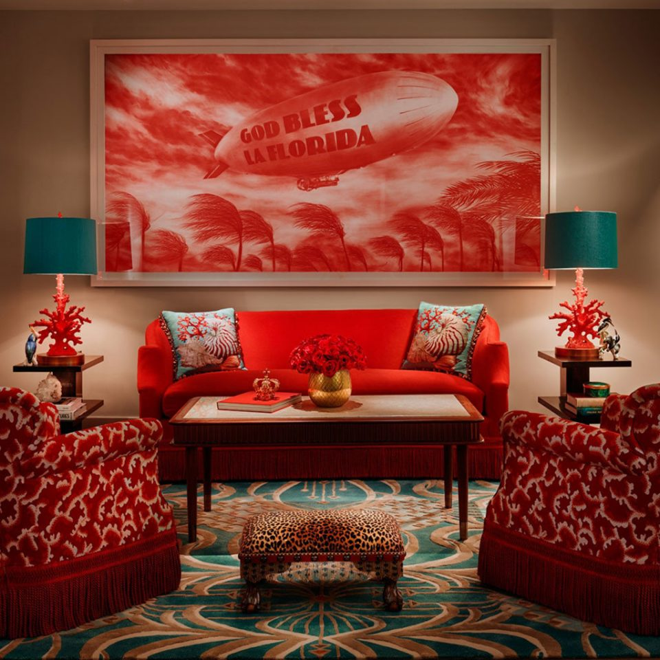 Hotels red living room modern art home Suite
