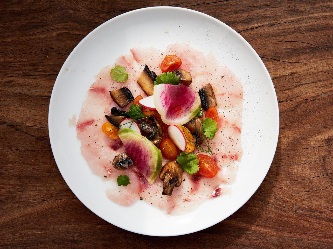 Trip Ideas plate table food dish meal produce breakfast meat cuisine wooden vegetable salad Seafood sliced