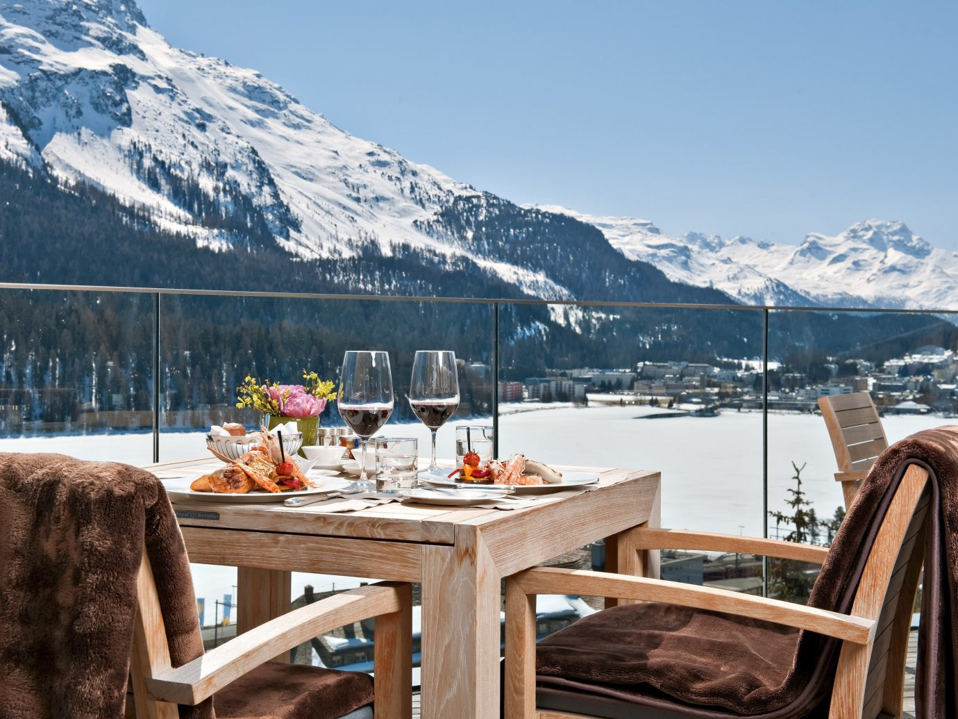 Trip Ideas sky mountain outdoor chair Winter vacation season Resort tourism snow overlooking