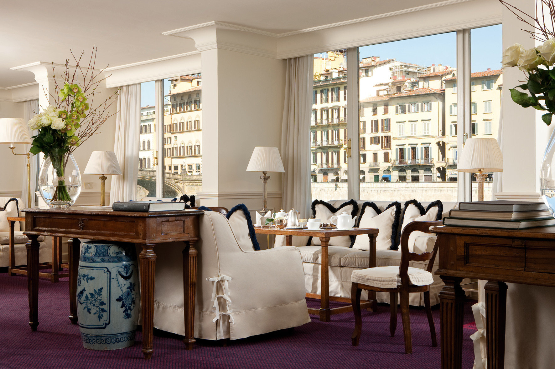Florence Hotels Italy floor indoor window Living dining room room chair home furniture ceiling interior design living room estate restaurant table window covering decorated area