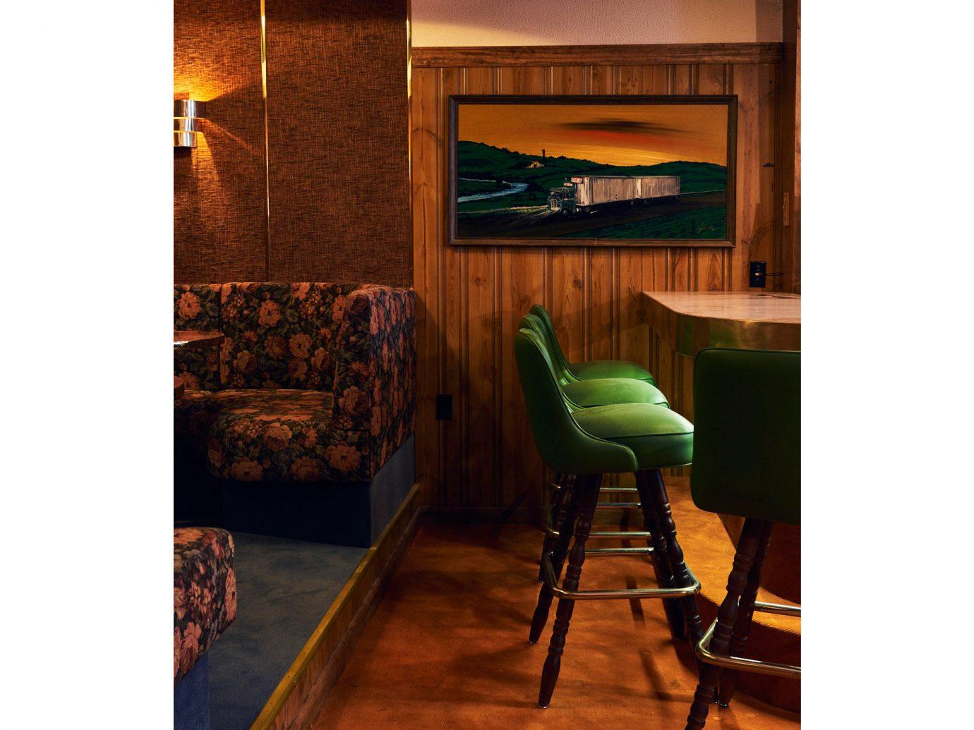 Food + Drink Trip Ideas indoor floor green furniture table room wall interior design chair seat