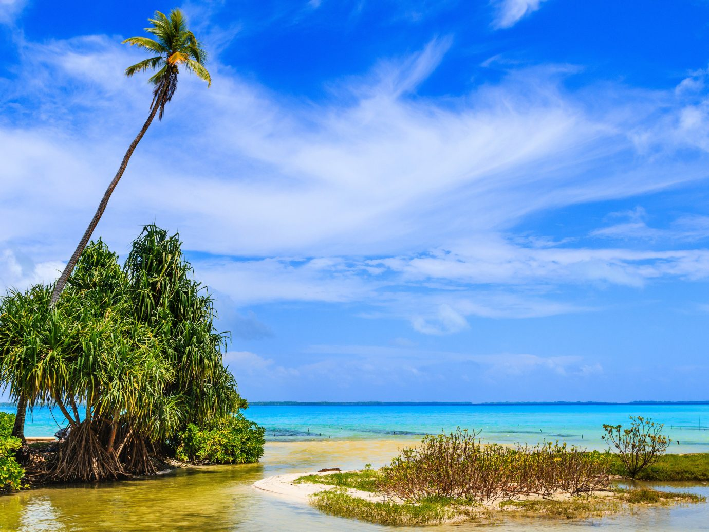 Islands Trip Ideas water sky outdoor tree tropics Nature Sea caribbean shore vegetation Ocean palm tree arecales daytime Coast coastal and oceanic landforms cloud horizon islet Island Lagoon Beach vacation calm tourism bay promontory computer wallpaper landscape plant Lake swimming sandy