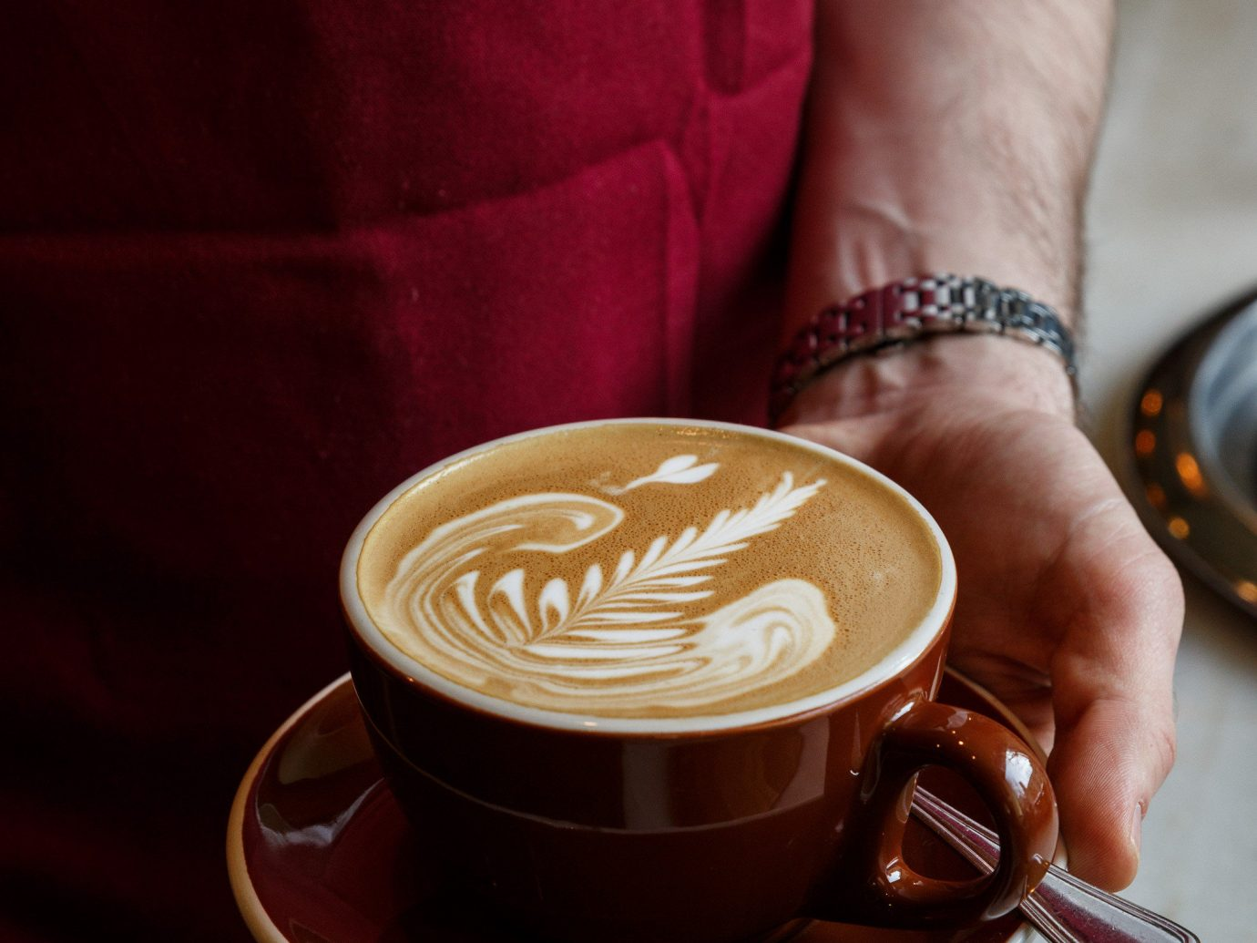 Food + Drink cup indoor coffee Drink person caffeine espresso beverage sense flavor cappuccino