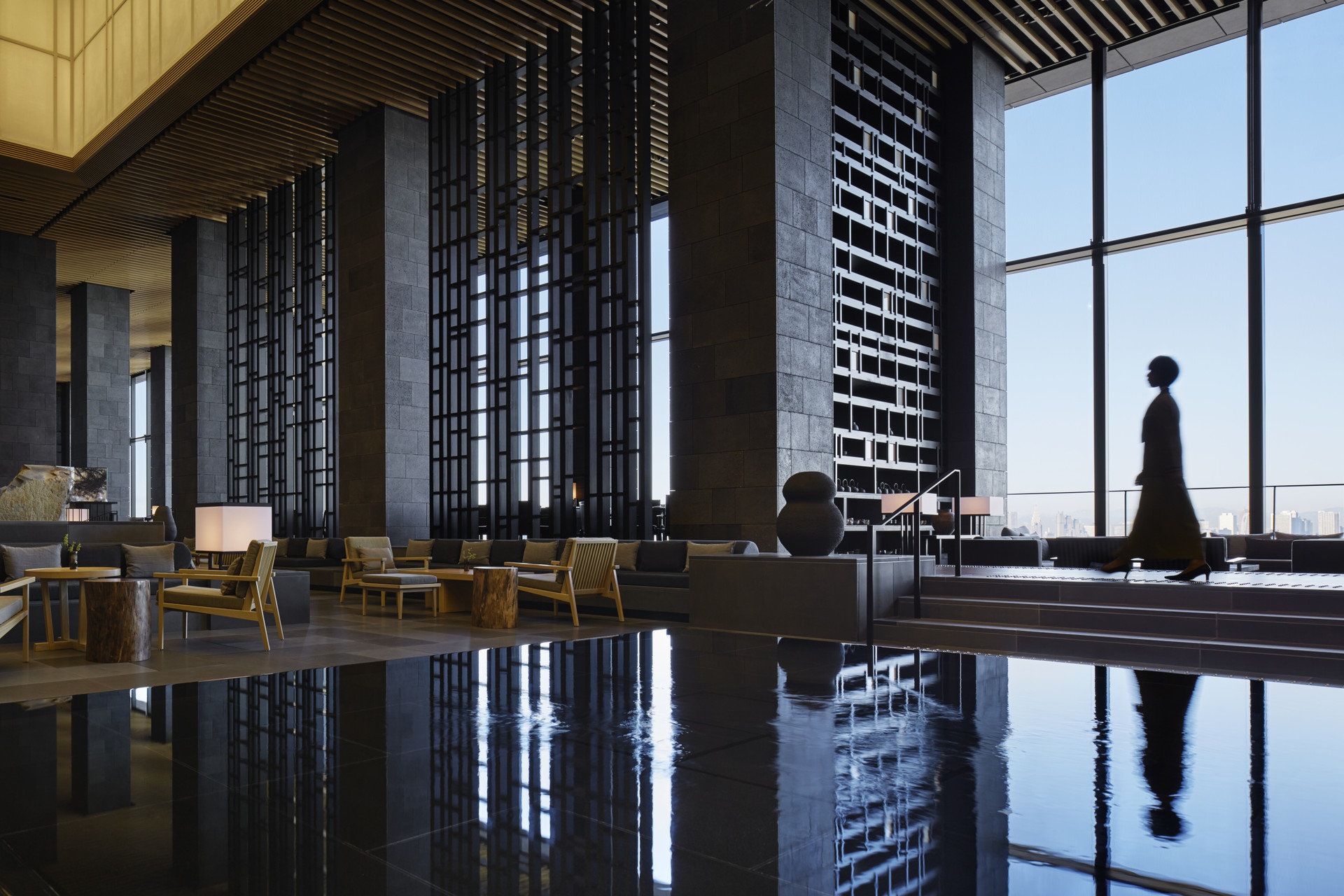 Hotels An Tokyo Indoor Architecture Reflection Interior Design Lighting Wood Facade Tourist Attraction Symmetry Professional