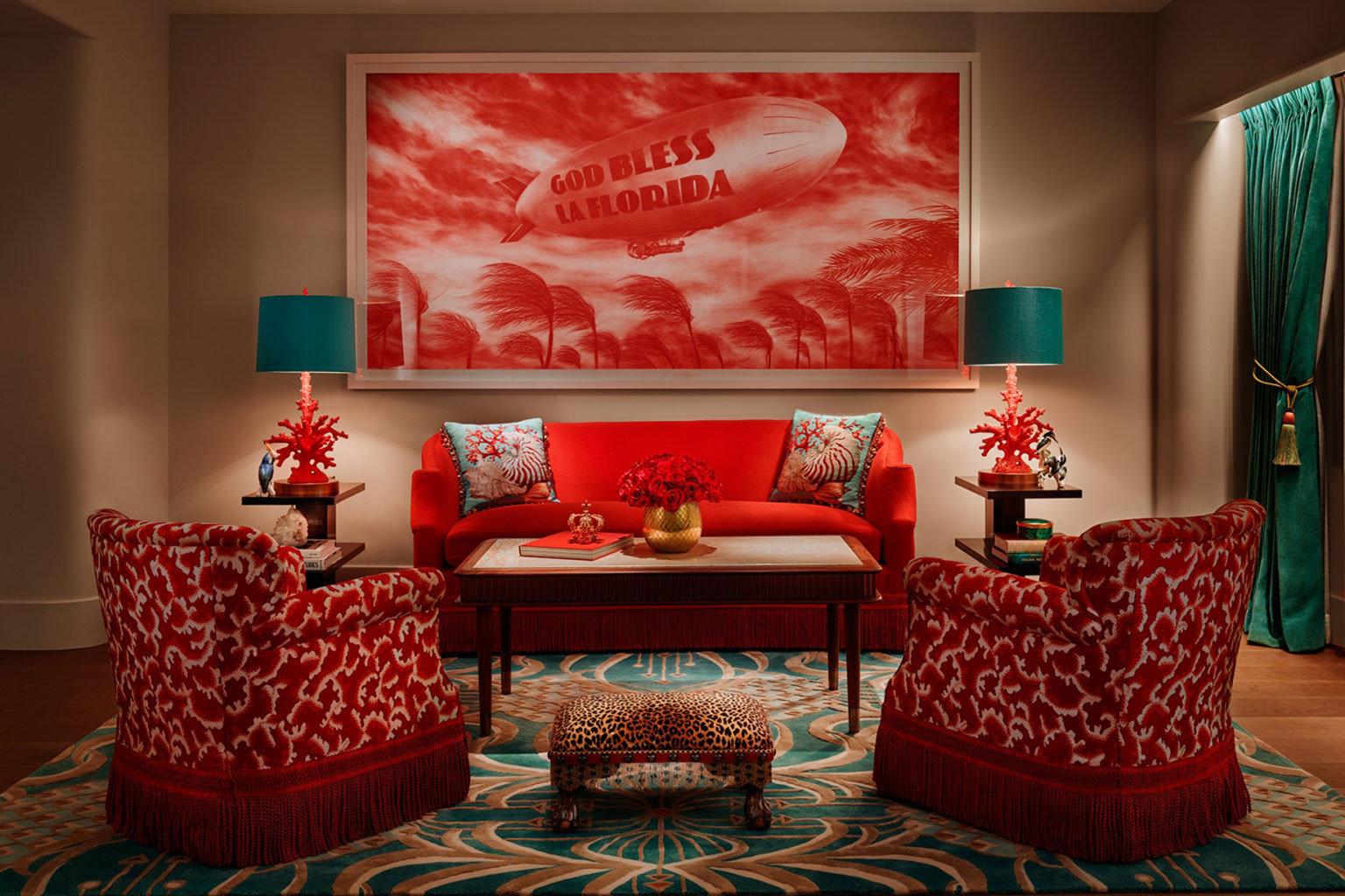 Hotels wall indoor room red living room Living interior design modern art home Design Suite area decorated furniture