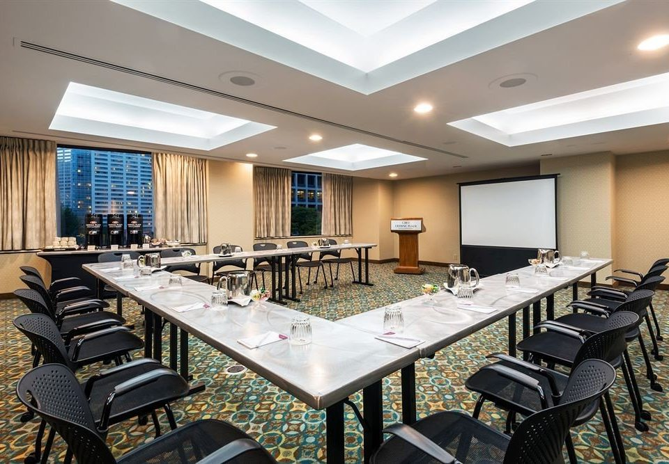 chair conference hall function hall convention center meeting auditorium classroom restaurant office conference room Island