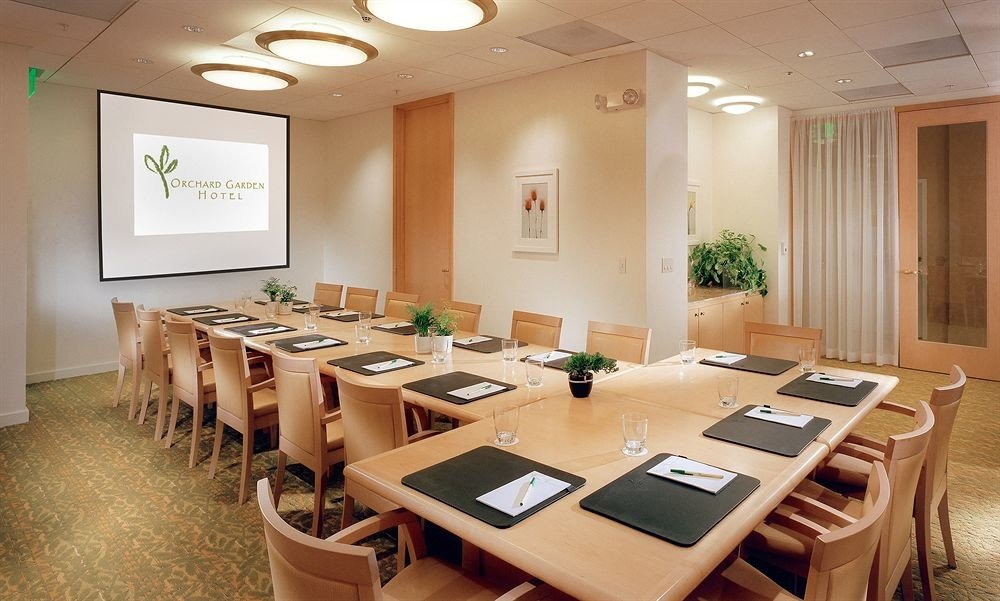 conference hall function hall classroom restaurant meeting convention center Island dining table