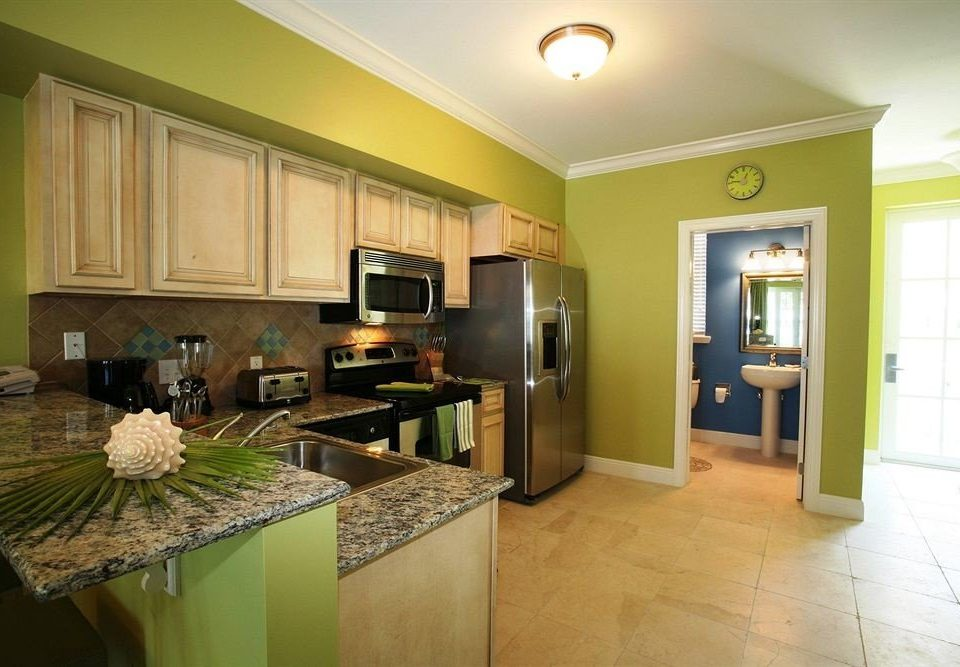 Kitchen green property home condominium sink living room counter cabinetry cottage appliance Island