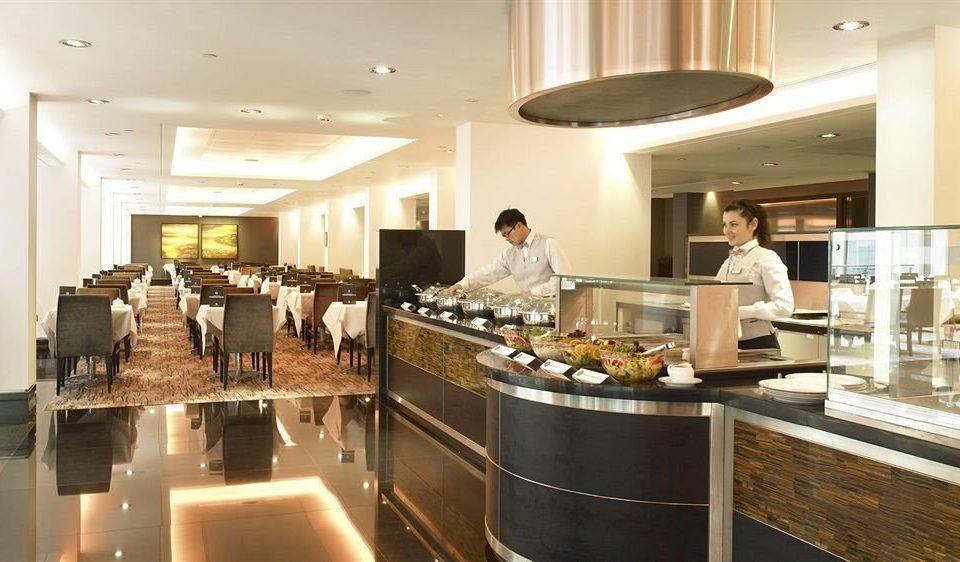Kitchen restaurant function hall buffet café cafeteria counter brunch Island