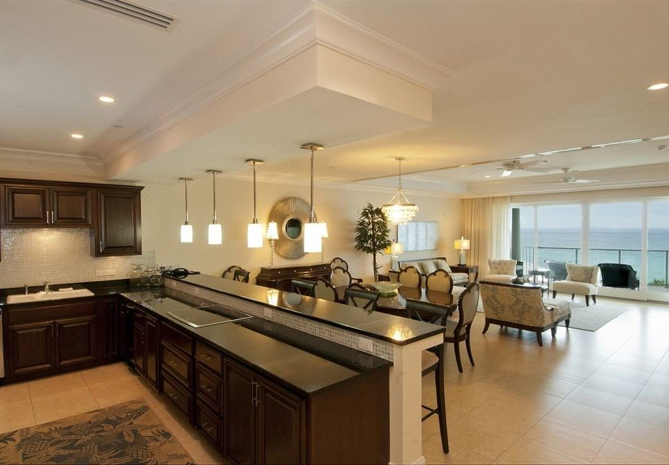 Lounge Luxury Modern Kitchen property home living room condominium mansion cabinetry long appliance Island