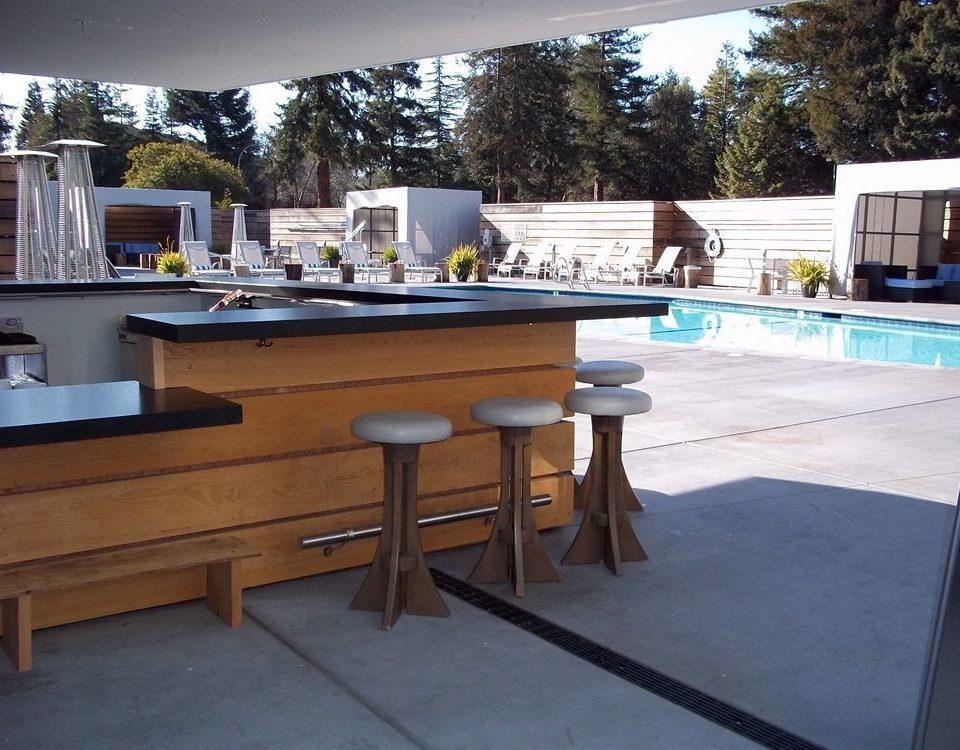 property swimming pool home countertop recreation room Villa Kitchen Island