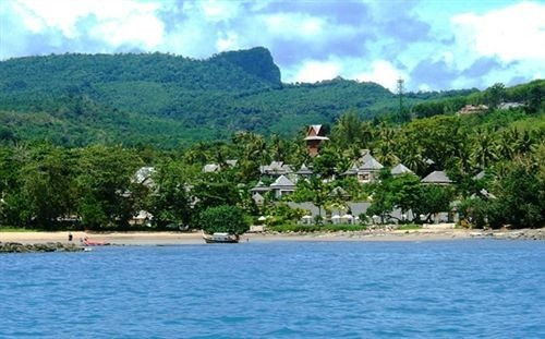 water mountain sky Nature caribbean Lake Lagoon Island shore cove islet Resort Village surrounded swimming day