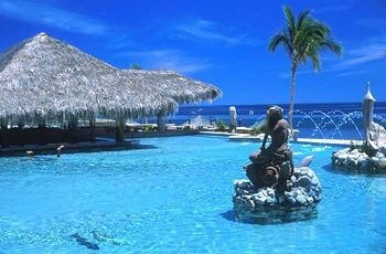 water leisure mountain Nature caribbean swimming pool Pool blue Sea Resort Lagoon Island swimming shore surrounded