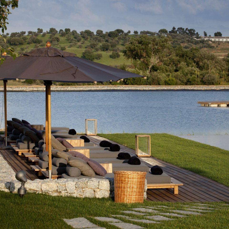 grass sky water dock lawn reservoir Sea Lake Island
