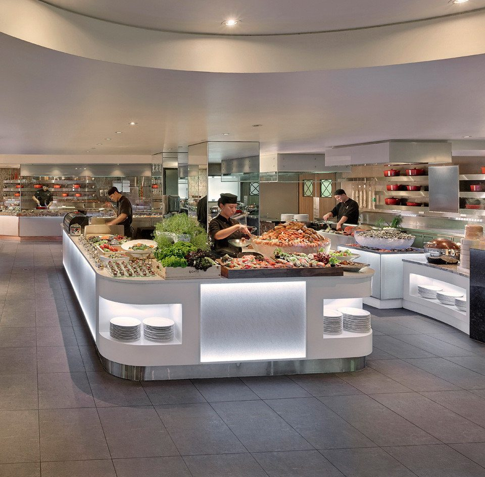 retail Lobby restaurant counter food bakery cafeteria shopping mall Island