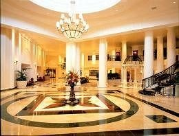 Lobby property building mansion palace function hall counter ballroom plaza hall fancy Island colonnade