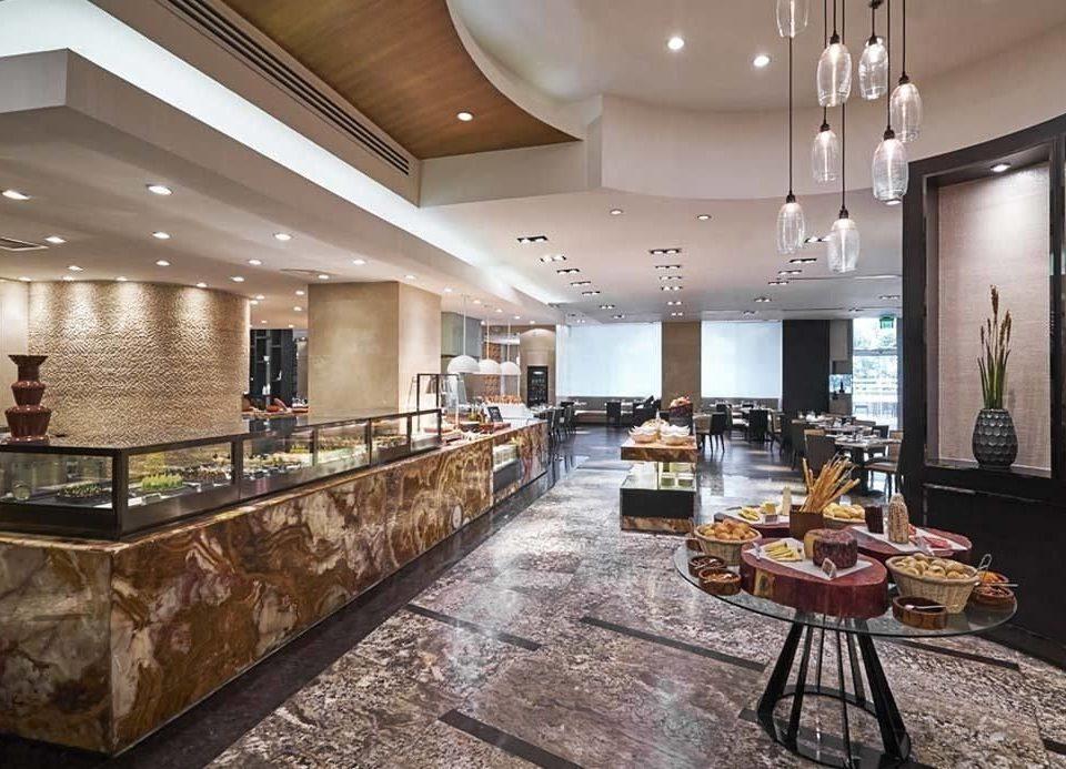 Lobby property counter condominium living room Island