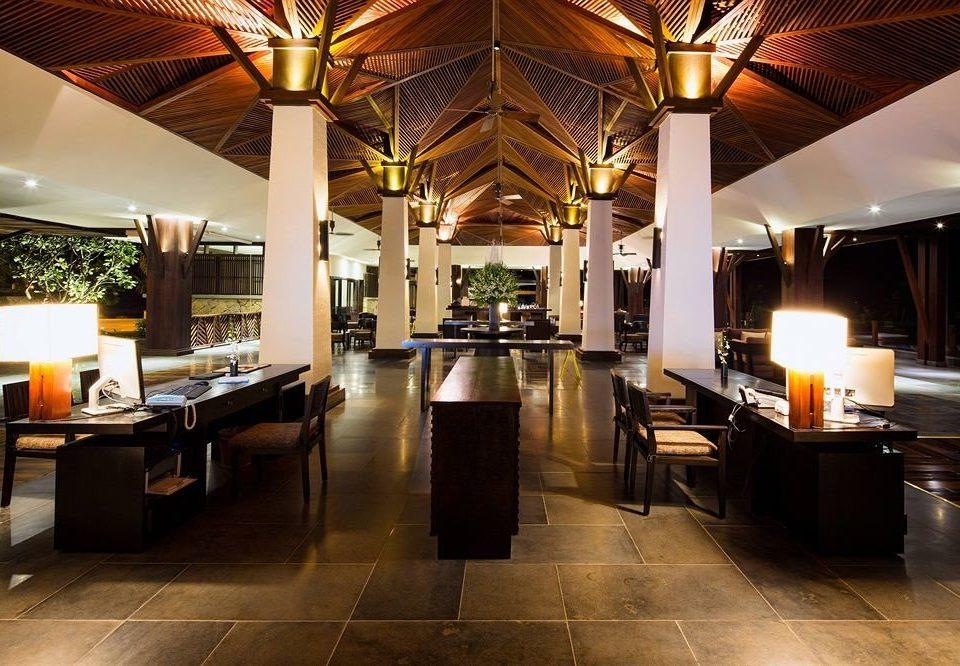Lobby restaurant lighting Resort Modern Island