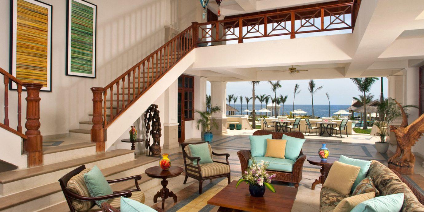 Island Lounge Scenic views Tropical living room property home house condominium Resort Villa cottage farmhouse mansion