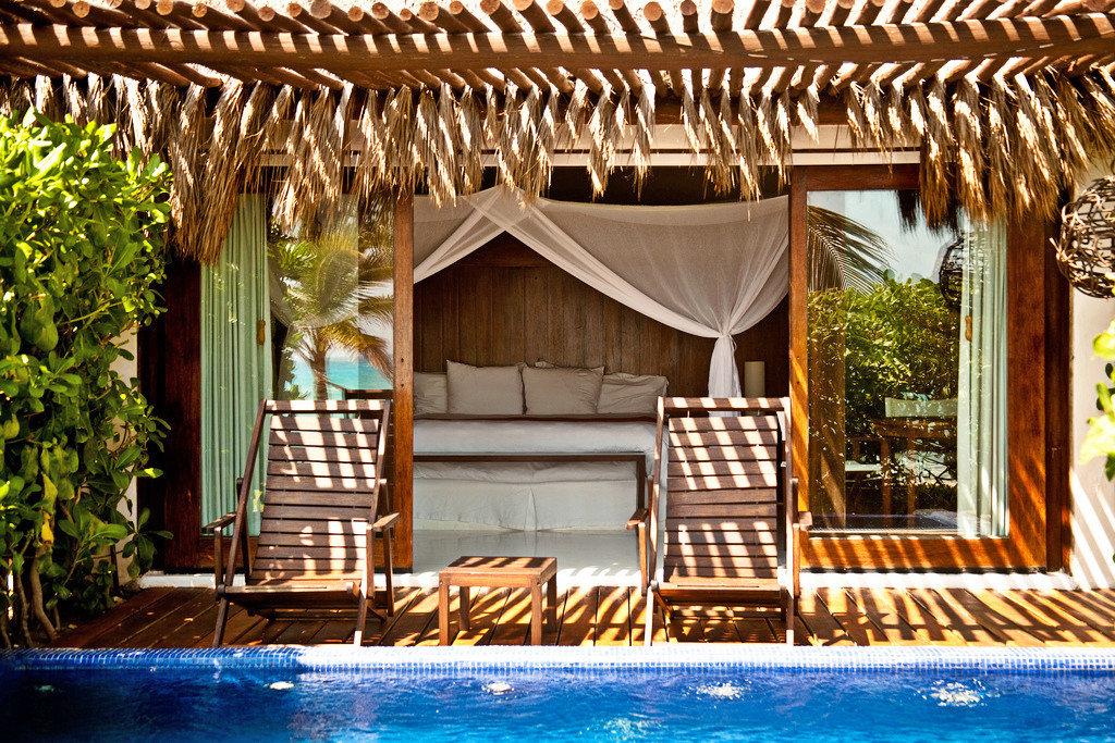 Island Luxury Pool chair leisure swimming pool Resort Villa backyard outdoor structure