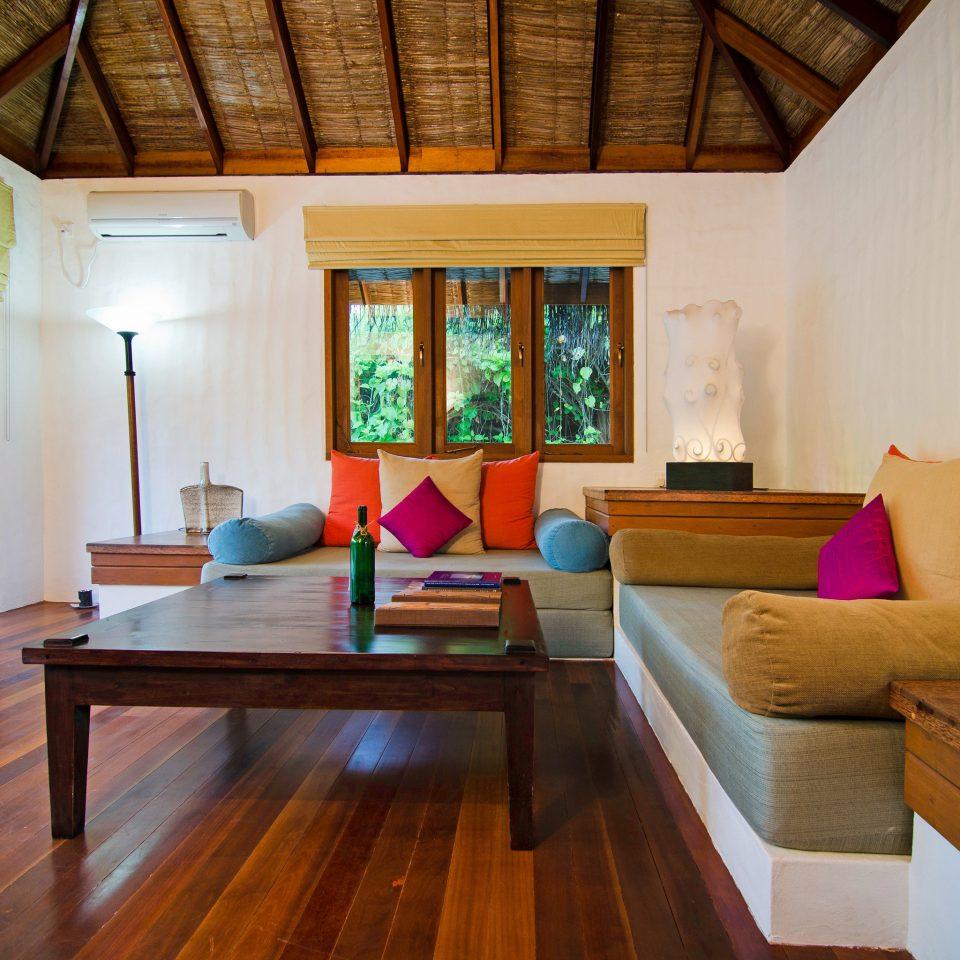 Island Luxury property house wooden living room home hardwood cottage Resort Villa Suite wood flooring