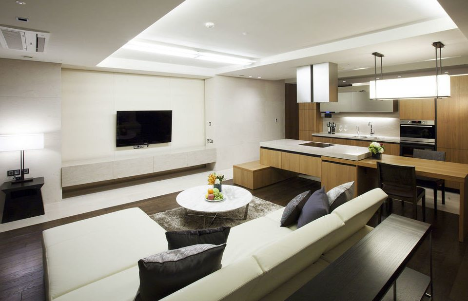 property condominium living room home Suite yacht sink cottage Modern Island