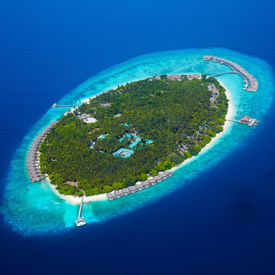 Natural wonders Scenic views water reef Nature blue atmosphere archipelago Ocean atoll atmosphere of earth Sea Island earth islet artificial island aerial photography
