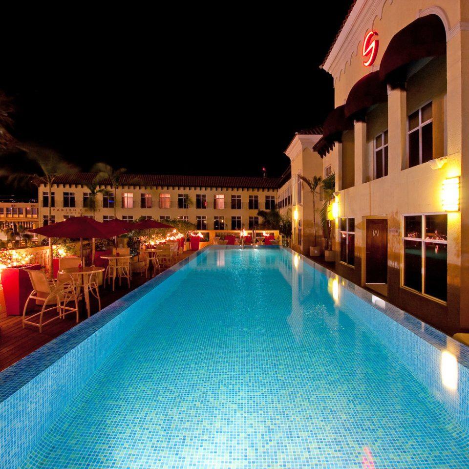 Island Pool building swimming pool leisure Resort night