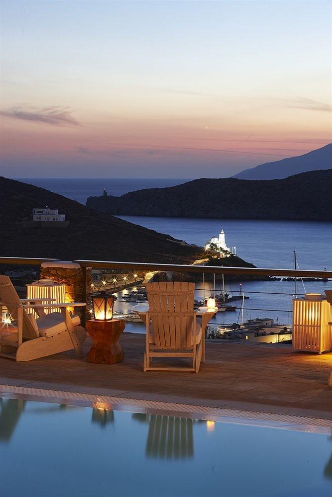 water sky Sunset evening morning mountain dusk Sea Resort sunrise dock overlooking Island